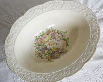 Edwin Knowles Oval Vegatable Bowl - cremelace