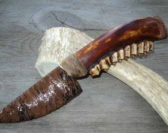 Stone Knife with a jawbone handle