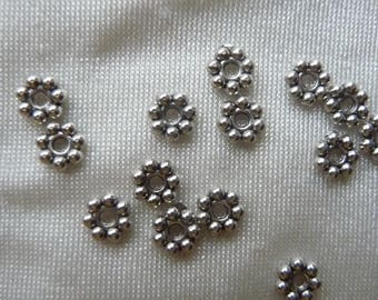 "SALE!! Bead, antiqued silver-finished ""pewter"" (zinc-based alloy), 6x1mm double-sided rondelle, Pkg Of 20 beads."