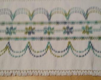 White Swedish Weave Table Runner