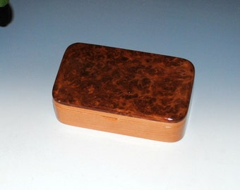 Redwood Burl on Cherry Handmade Wooden Treasure Box - Gift Box, Wood Jewelry Box, Wood Keepsake Box by BurlWoodBox - Handmade Wood Box