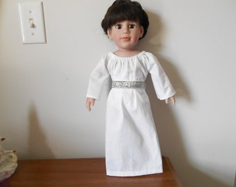 18 inch doll clothes Princess Leia inspired costume