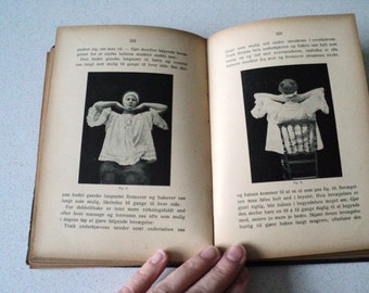 1918 Women's Home Economics Manual in Norwegian Sewing, Cooking, Exercise. Antique  Norway