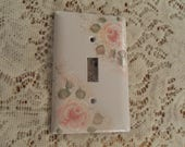Lin's Custom Ordered Single and Double Hand Painted Pale Rose Light Switch Covers