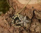 Sea Starfish Keep Calm & Listen to the Sea Necklace