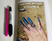 MISCONCEPTION VOLUME II - Limited Edition Version with Sticker Pack! a nonbinary graff zine by Mel1
