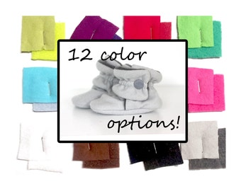 Baby Shoes - Baby Booties - Toddler Shoes - Crib Shoes - Soft Sole - Baby Girl Booties - Baby Boy Booties-  Choose Your Color