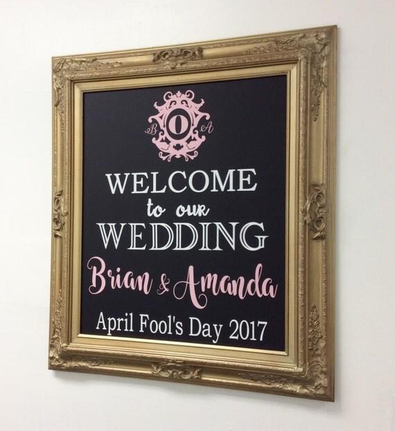 CHALKBOARD WEDDING Hashtag SIGN Chalkboard Sign Gold Wedding