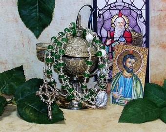 Saint Jude Catholic Rosary - Patron Saint of Desparate and Lost Causes, Hospitals and Hospital Personnel - Patron of Doctors and Nurses