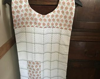 Aprons with sewn in dishcloth and pocket