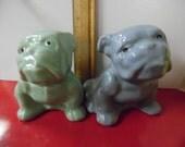Mccoy pottery mccoy bulldog, blue bulldog, green bulldog, vintage mccoy, old mccoy