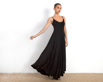 Black Maxi Dress - Long Summer Dress - Boho Maxi Dress