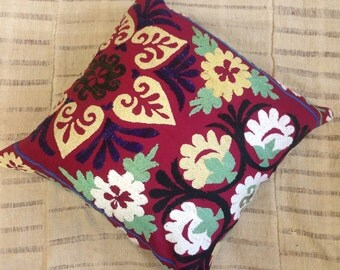 "Vintage Suzani Pillow / 20x20"" / 50x50cm"