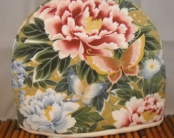 Beautiful Tea Cozy Exotic Garden Butterflies Flowers