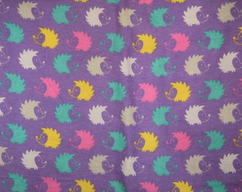 Purple with multicolored hedgehog print Flannel pants pajama dorm lounge made to order your choice size XS - 2X