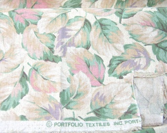 Pastel Leaves Upholstery Fabric, 1/2 Yard, Portfolio Textiles Inc