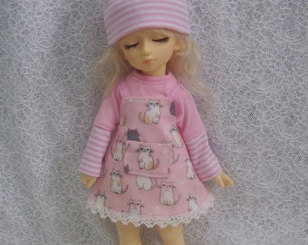 Super Dollfie Yo SD Littlefee Baby Pink One Piece  Set - Kitty