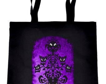 Haunted Mansion Wallpaper Ghoul Tote Book Bag Dark Alternative Handbag - TB-2017057