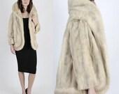 RESERVED Mink Fur Coat Mink Jacket Blonde Mink Vintage Fur 50s Coat Blonde Mink Coat Platinum Mink Blonde Wedding Stroller Opera Cape Jacket