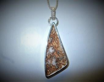 Ocean Jasper Pendant jasper pendant silver pendant silver jasper