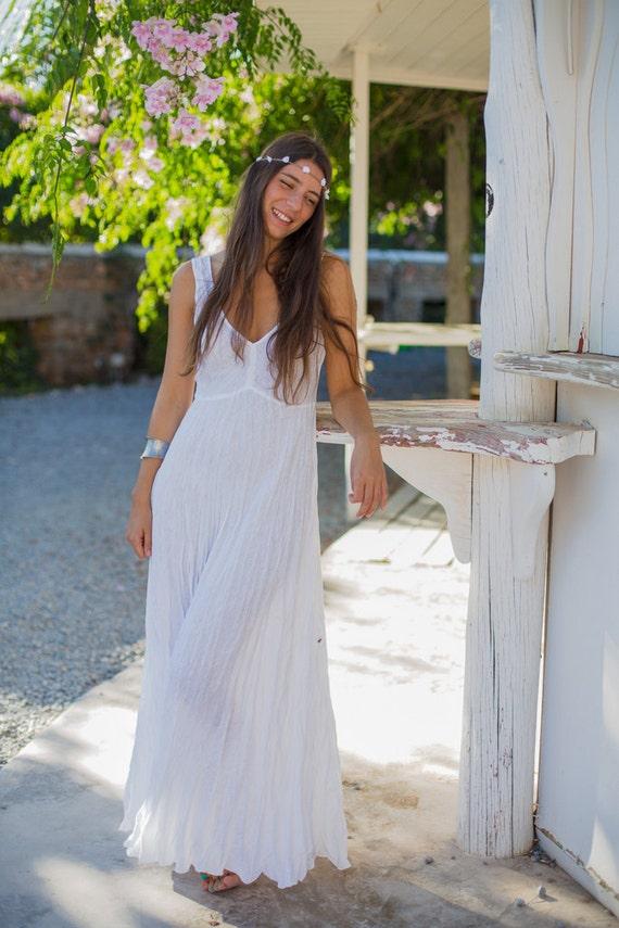 Linen long white linen dress casual beach wedding white linen for White linen dress for beach wedding