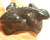 Carved Agate Lizard  ring  .....   size 9 ... 22 mm wide x 35 mm up and down over all ......       B3986