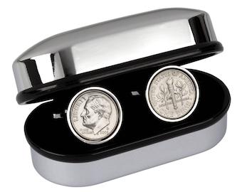 51st Birthday Gift -  Lucky 1966 US Coin cufflinks 100% satisfaction Guarantee