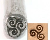 TRIPLE SPIRAL Metal Stamp - Metal Design Stamp great stamping supplies