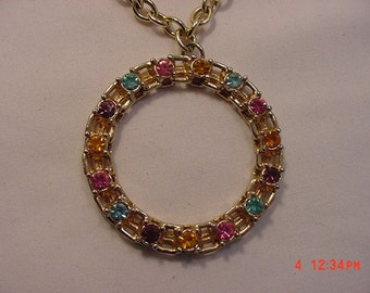 Vintage Sarah Coventry Rhinestone Necklace   16 - 735