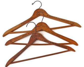 Vintage Wooden Hangers Set of Three