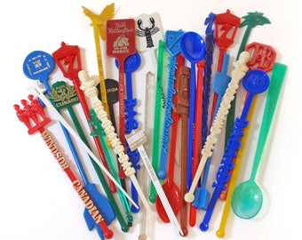 Vintage Swizzle Sticks Group of 29