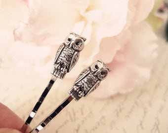 Little Owl  bobby pins-medieval-shabby chic-steampunk-Victorian V056