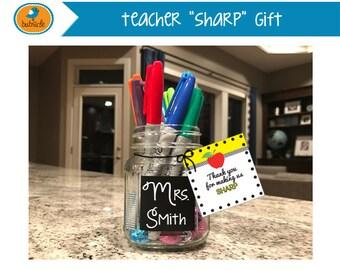 Teacher Appreciation Gift, Teacher Recognition Day, Thank You for Making Us SHARP, Digitable Teacher's Gift - Digital Print