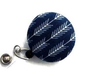 Retractable Badge Holder ID Badge Holder Badge Reel Retractable Lanyard Name Badge Holder Swivel Badge Clip ID Holder RN Id Arrows Navy