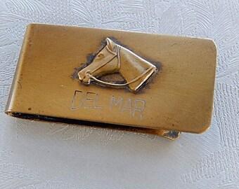 Del Mar Money Clip, Vintage Money Clip, Gift for Him