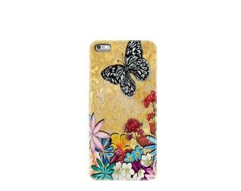 iPhone 6 case iphone 6S case iphone 6 plus case iphone 7 case mobile phone Apple iphone 7 plus case cover butterfly flower garden silicone
