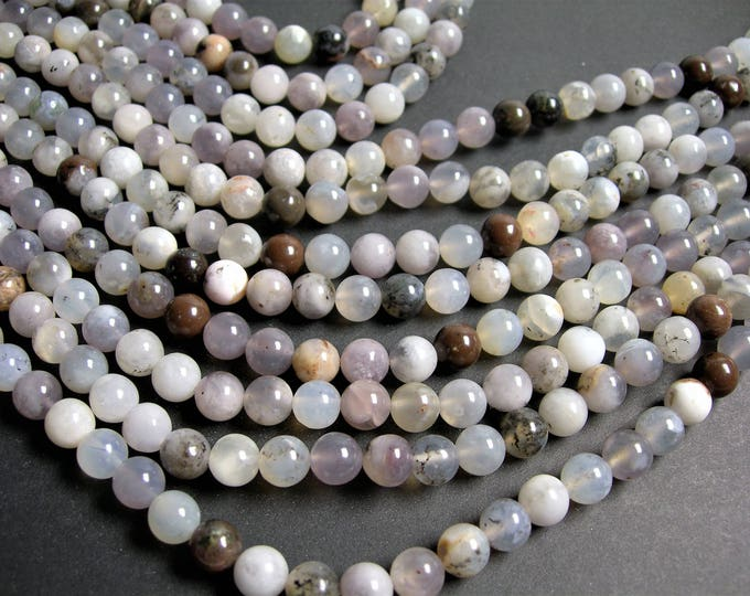 Dendritic Opal - 8mm round beads - full strand - 48 beads - Dendritic moss opal - RFG1276