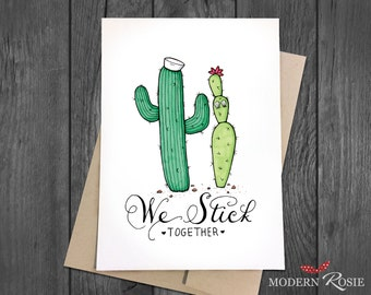 We Stick Together (Salty Sailor Cacti) - 5x7 Greeting Card