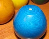 Turquoise Sea Blue Tagua Nut Beads, Keg Bead, Organic Beads, Natural Beads, Vegetable Ivory Beads, EcoBeads