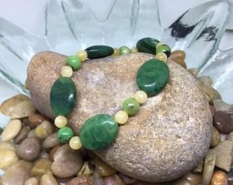 African Jade, Honey Jade, Chrysoprase (green, yellow, natural stones, crystals