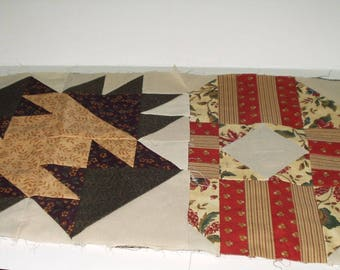Quilt Blocks Neutral Shades 15 Blocks 12 X 12 Machine Sewn Make your own Quilt Quilting Sewing Crafting  Supply 4175