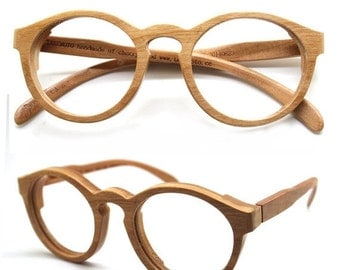 20% OFF Cherry Wood Round Takemoto Thanks Handmade Wooden Brown Sunglasses