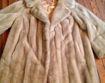 Vintage England Tocci Tissavel Faux Fur Swing Jacket Coat