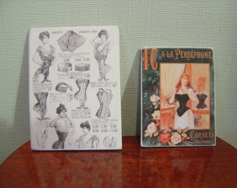 Miniature Dollhouse Corsets Ladies Signs One Inch Scale 1:12