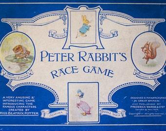 Vintage Peter Rabbit Race Game Board Beatrix Potter