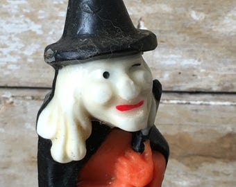 Vintage Gurley Witch Candle  Adorable 1950's
