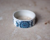 StayGoldMaryRose - Beautiful blue 60's pattern china stacking bangle.