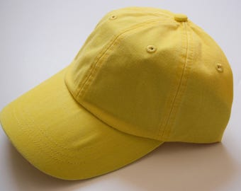 Adams Baseball Cap - Lemon Yellow Hat - Women or Men