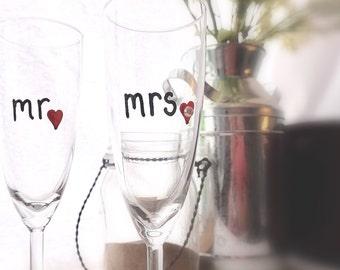 Bride and Groom Glassware