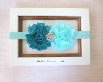 Aqua Teal Baby headband,baby girl,infant,toddler,baby headband bow,baby head band flower,Aqua bow headband
